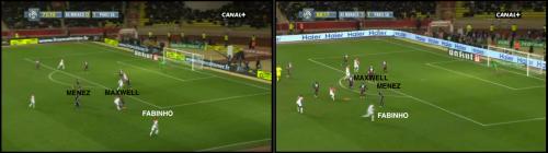 Dans les 20 dernières minutes, Monaco trouve la largeur offensive face la mauvaise organisation défensive d'un PSG friable sur attaque placée.