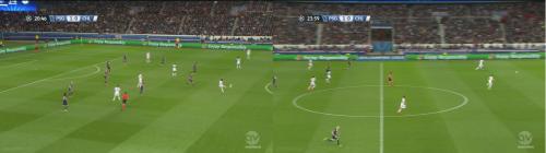 Après l'ouverture du score, c'est Chelsea qui doit faire le jeu face à un PSG qui défend à 9. L'espace s'offre à Lavezzi dans le dos de la défense de Chelsea.